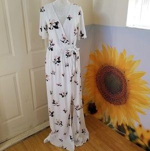 NWT Tobi ♡ Floral Maxi Wrap Dress